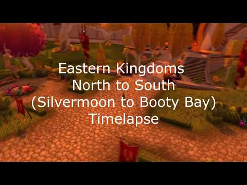 World of Warcraft - North to South Eastern Kingdoms travel timelapse