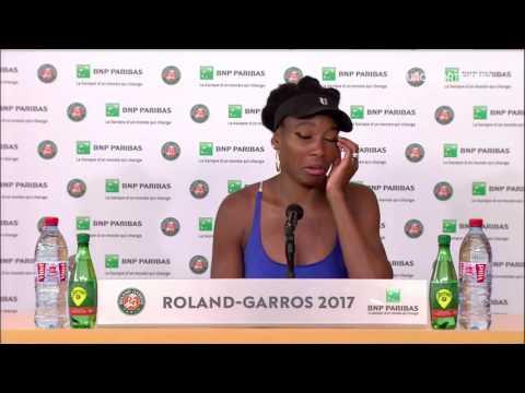 Venus Williams Press Conference RG17 - 4th of June