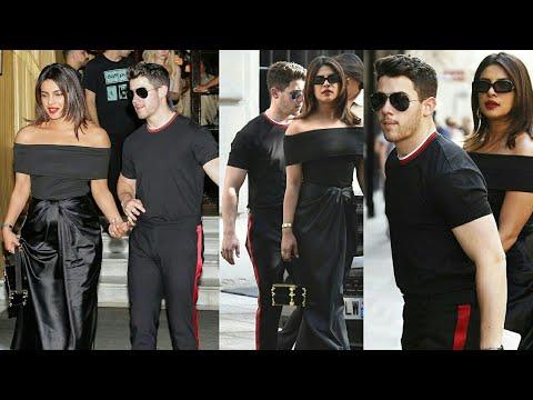 Priyanka Chopra And Nick Jonas Twinning In Black As They Spotted At Restaurant In Paris | Nickyanka Mp3