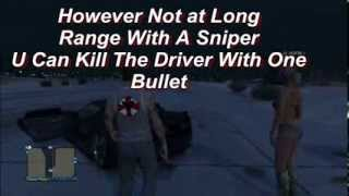 Grand Theft Auto 5 Online Kill A Tank Driver With One Bullet Trick HD