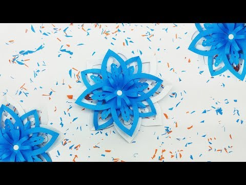 How To Make Beautiful 3D Origami SnowFlakes | Christmas Origami Instructions | Easy Paper SnowFlake