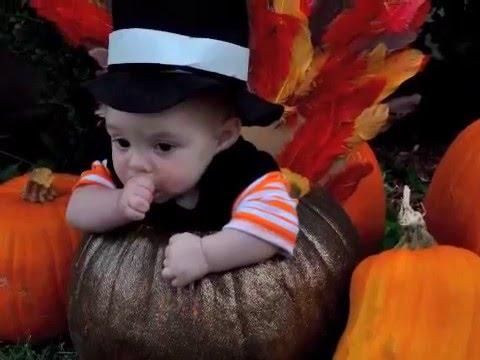 Thanksgiving Turkey Pumpkin Baby Photo Shoot