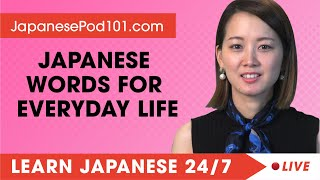Learn Japanese Live 24/7 🔴 Jąpanese Words and Expressions for Everyday Life ✔
