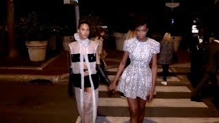 EXCLUSIVE : Cindy Bruna and Maria Borges at Spike Lee film party in Cannes