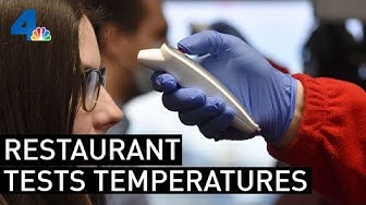 Restaurant Tests Customers Temperature Before Allowing Entry Amid Coronavirus Fears | NBCLA