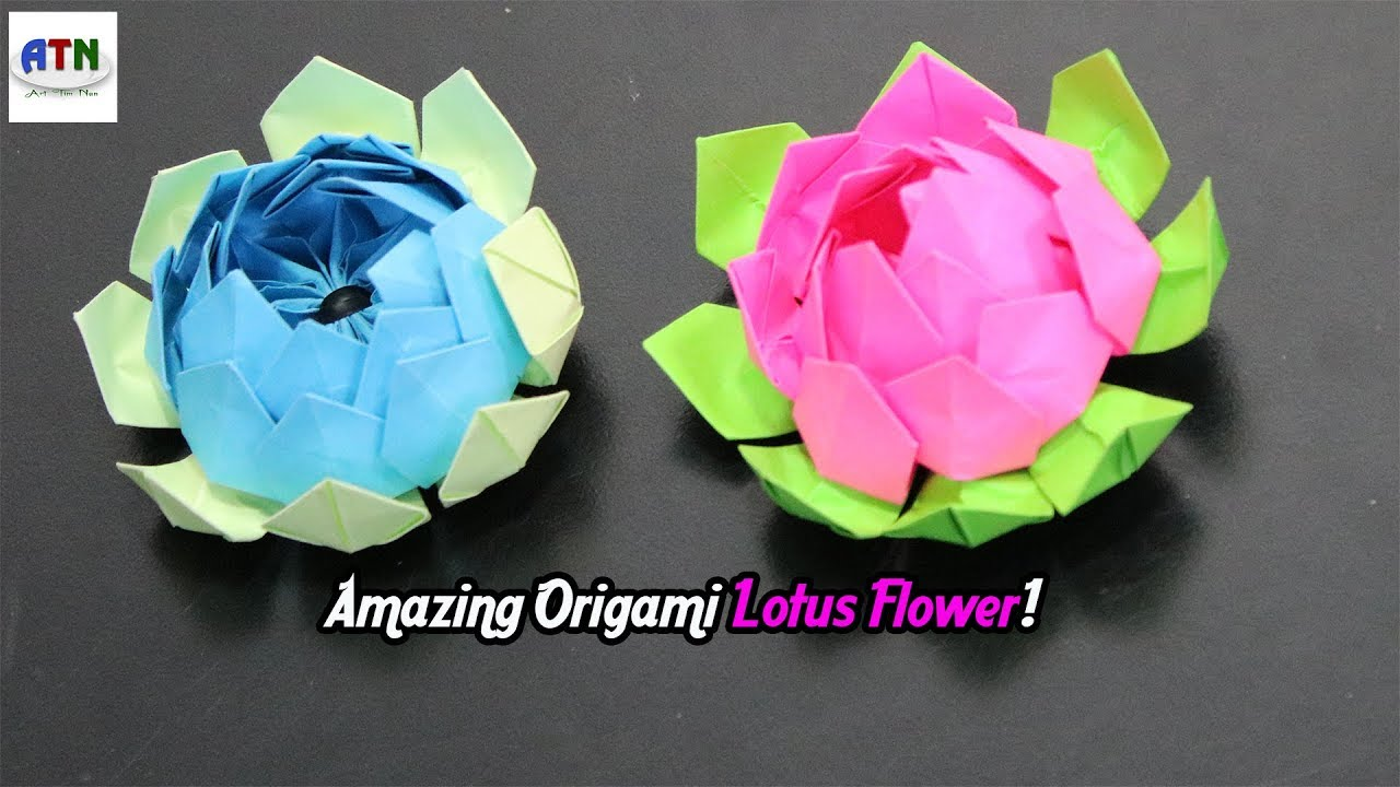 Dorable paper folding lotus flower sketch ball gown wedding how to make amazing origami lotus flower diy paper crafts paper izmirmasajfo