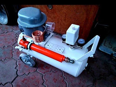 Компрессор из холодильника бесшумный самодельный ( silent compressor )
