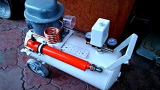 видео Компрессор от холодильника для накачки колес