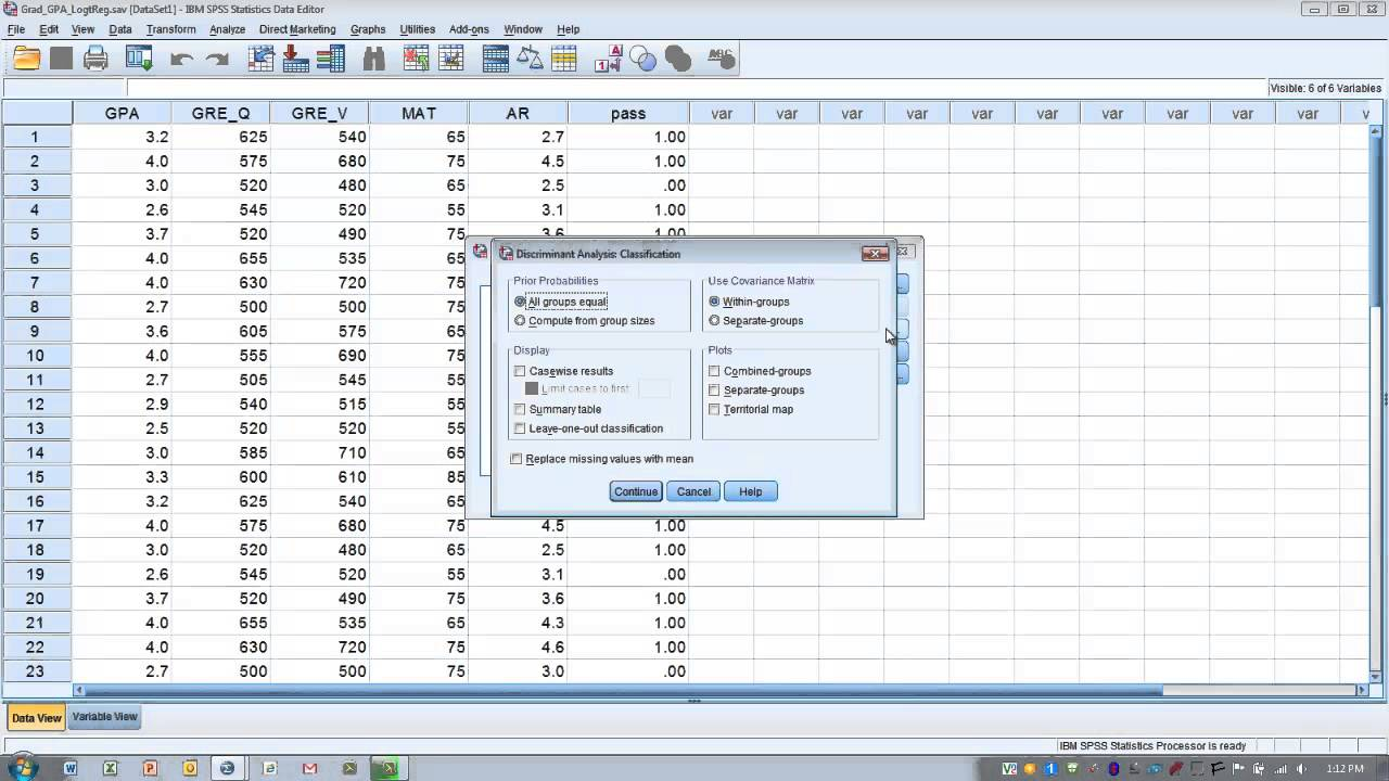 How to Use SPSS: Discriminant Analysis - YouTube  How to Use SPSS...