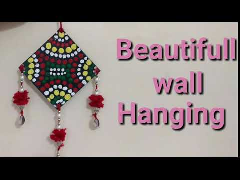 How to make Easy wall hanging with dot painting technique | DIY beautifull wall hanging |