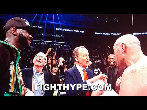 TYSON FURY AND DEONTAY WILDER DISS ANTHONY JOSHUA AFTER FIGHTING TO DRAW: 'BOCK BOCK BOCK!'