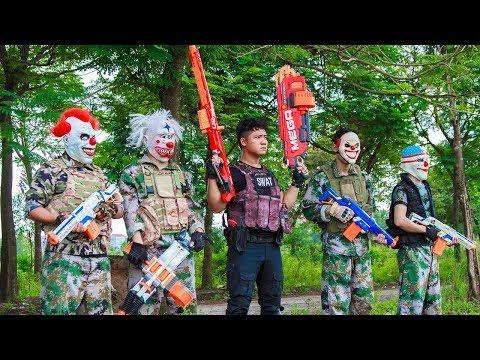 NERF WAR : SWAT Warriors Nerf Guns Fight Organized Crime Shooter Mask