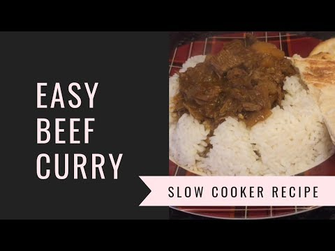 Easy Slow Cooker Beef Curry 😊 Recipe & Cook With Me!