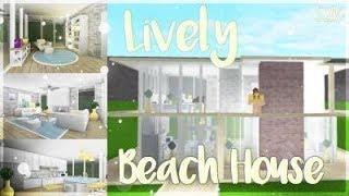 ROBLOX Speedbuild | Welcome to Bloxburg | Lively Beach House: 52k