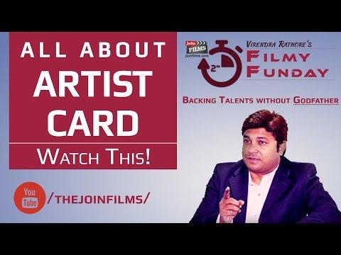Artist card - Actor Card in bollywood - बॉलीवुड में अभिनेता कार्ड |FilmyFunday#10| JoinFilms