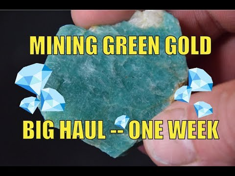 Mining Green Gold Colorado Amazonite (One Week Haul)