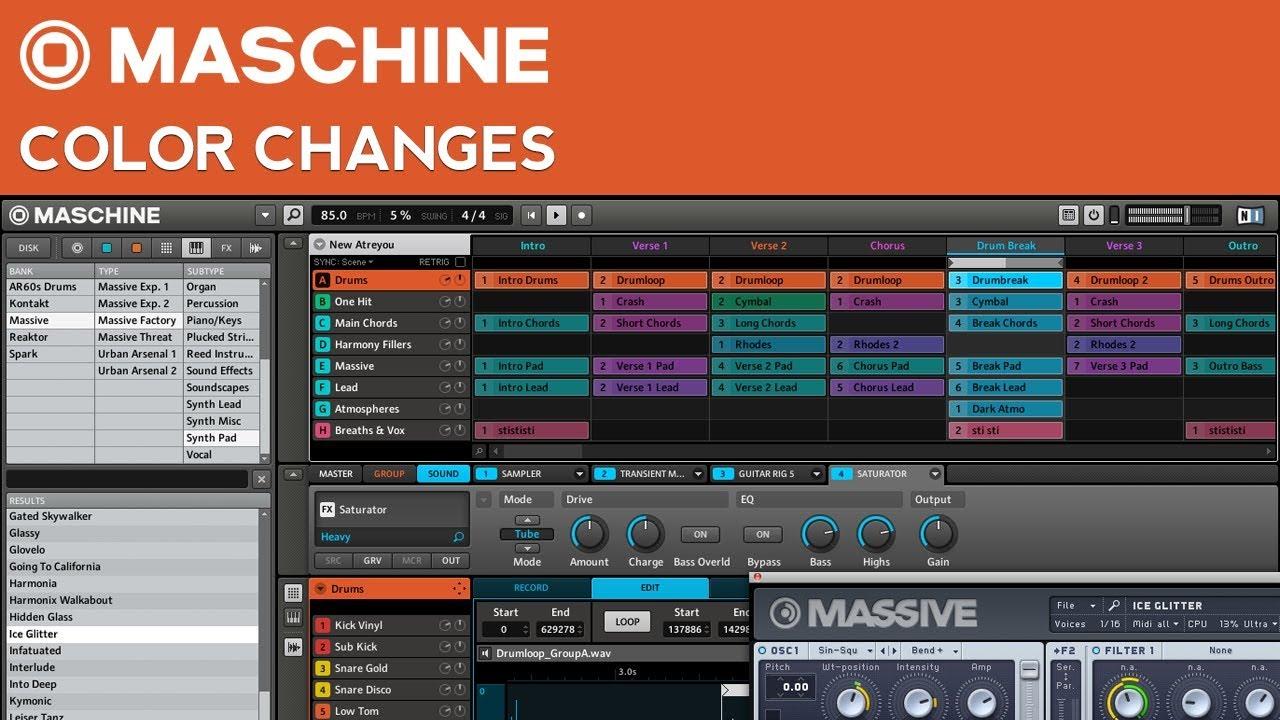 New!! N. I. Maschine tutorial | how to use ni maschine 1. 8 as an.