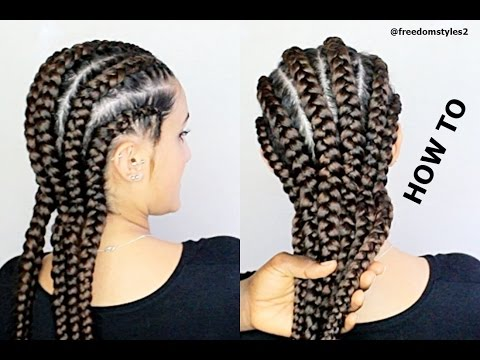 how-to-do-|-jumbo-cornrows-(summer-hairstyle)