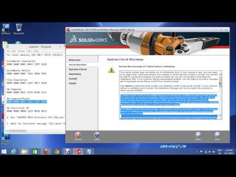 HOW to INSTALL  SOLIDWORKS in WINDOWS [CRACK] 2014