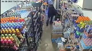 Dancing bandit celebrates stealing four cases of red bull