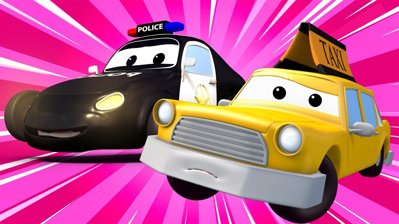 yaramaz Otomobil - Devriye Aracı araba şehrinde ???? ???? Çocuklar için çizgi filmler