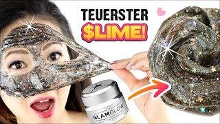 Der TEUERSTE SCHLEIM der WELT! Luxus vs. 1€ Maske! Slime ohne Kleber!