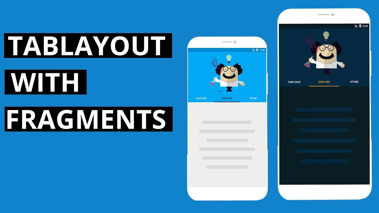 Create and Design a TabLayout with Fragments Android studio tutorial