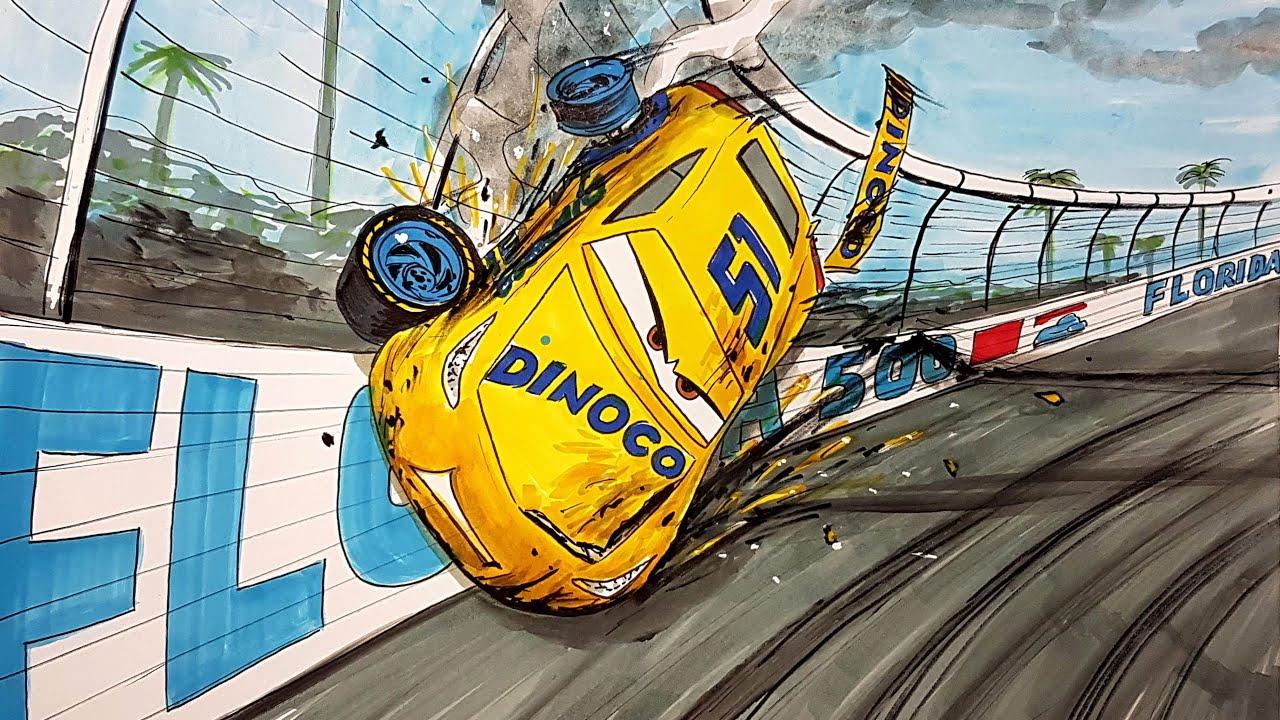 Cruz's Crash . CARS 4 Drawing and Coloring Pages   Tim Tim TV