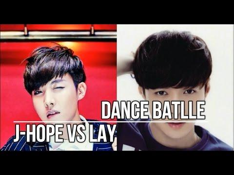 BTS J Hope VS EXO Lay - Dance Battle