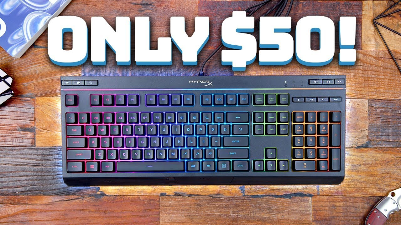 HyperX Alloy Core RGB Wired Gaming Membrane Keyboard with RGB Lighting