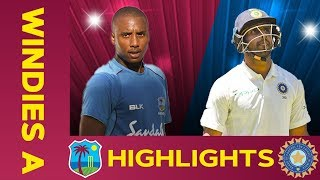 West Indies A vs India A - Match Highlights | 1st Test - Day 3 | India A Tour of West Indies