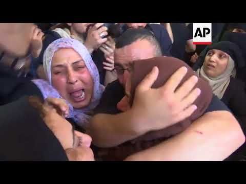 Funeral of Palestinian man shot by Israeli troops east of Gaza city