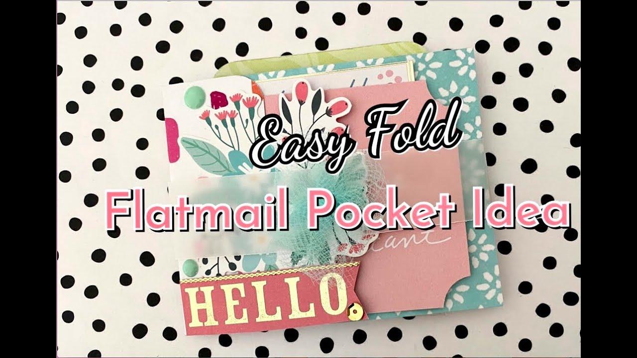 6x6 Paper 🌟 EASY FOLD 🌟  Flat Mail Pocket Idea | NO Scoreboard Needed | Simple & Quick