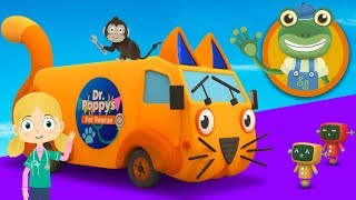 Andy The Animal Ambulance Visits Gecko's Garage | Trucks For Kids