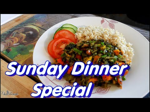 Sunday Dinner Special Recipe Callaloo & Brown Rice | Chef Ricardo Cooking