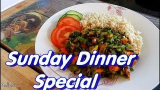 Sunday Dinner Special Recipe Callaloo & Brown Rice | Chef Ricardo Cooking