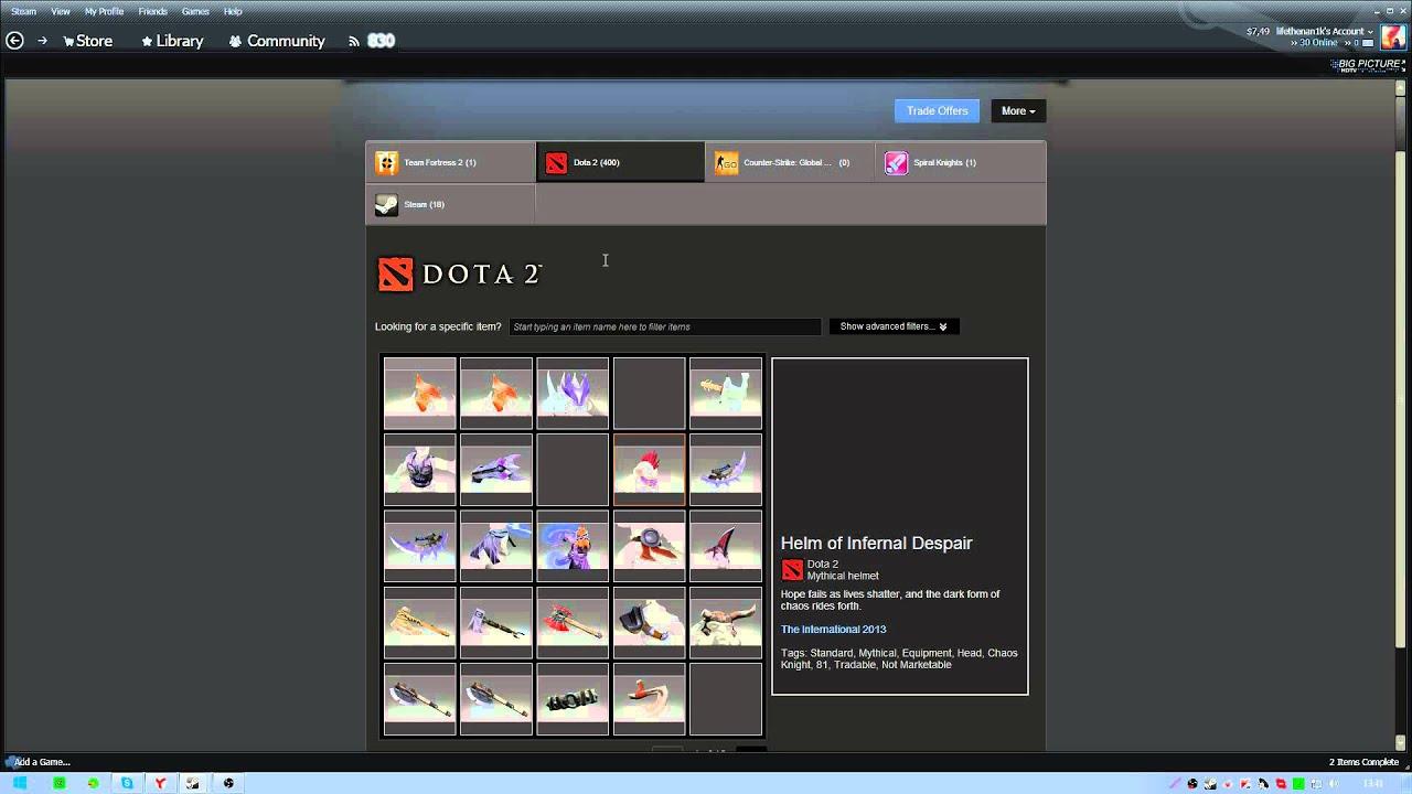dota 2 trade offers youtube