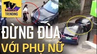Nát đít xe ôtô vì dám giỡn nhây với phụ nữ