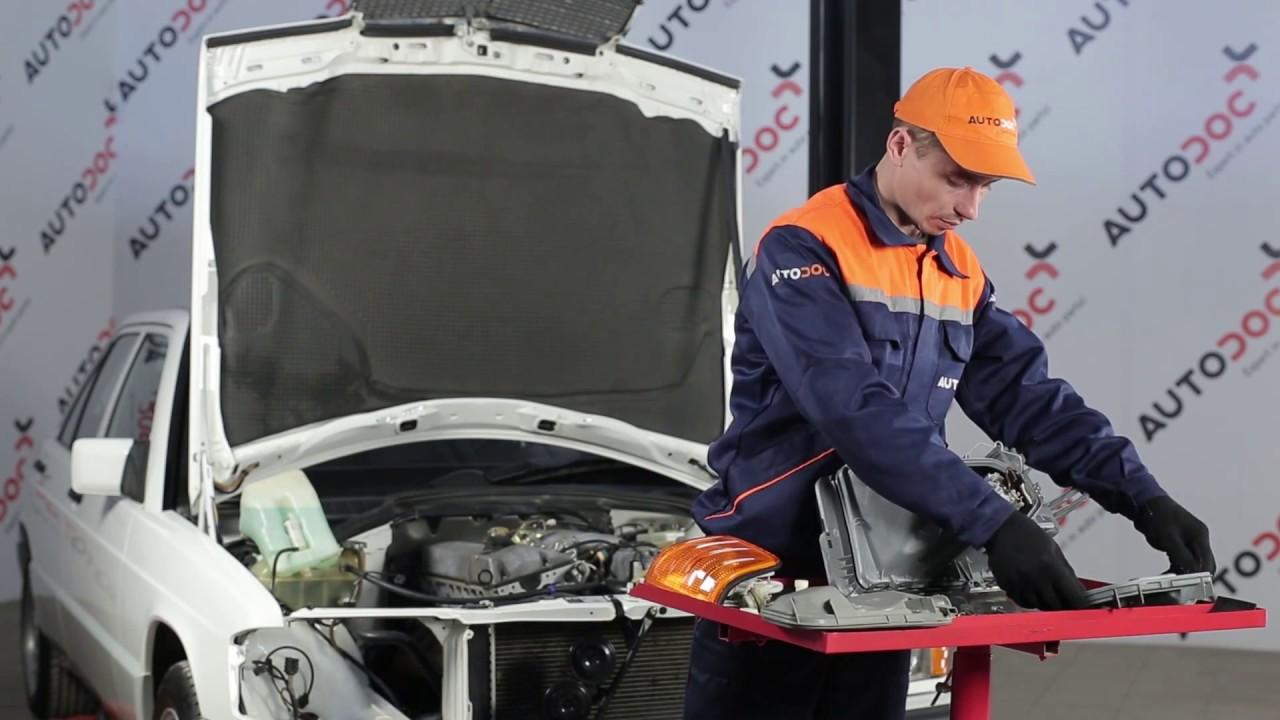 Cómo cambiar las luces delanteras en MERCEDES-BENZ 190 W201 [Instrucción]