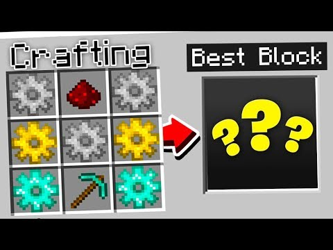 How to CRAFT the BEST BLOCK in MINECRAFT!