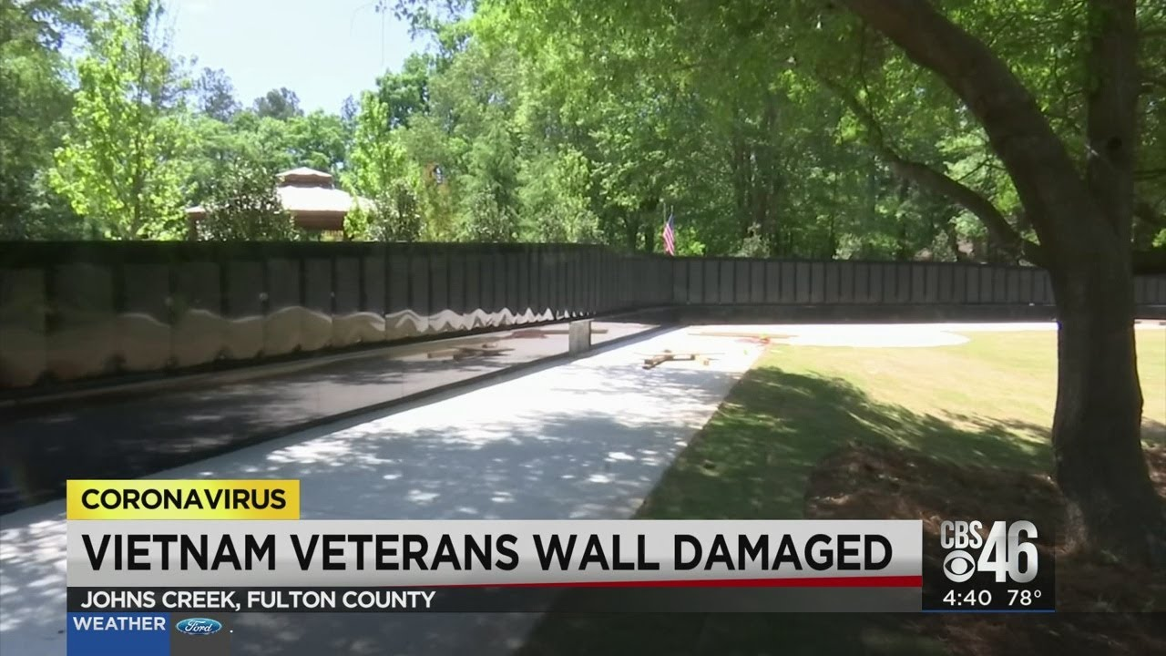 Vietnam Veterans Healing Wall War Memorial Vandalised