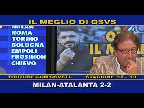 QSVS - I GOL DI MILAN - ATALANTA 2-2  TELELOMBARDIA / TOP CALCIO 24