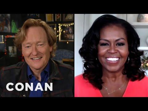 #CONAN: Michelle Obama Full Interview - CONAN on TBS
