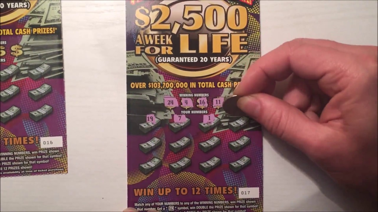 New Raspaditos 2500 A Week For Life Scratch Off Winner Youtube