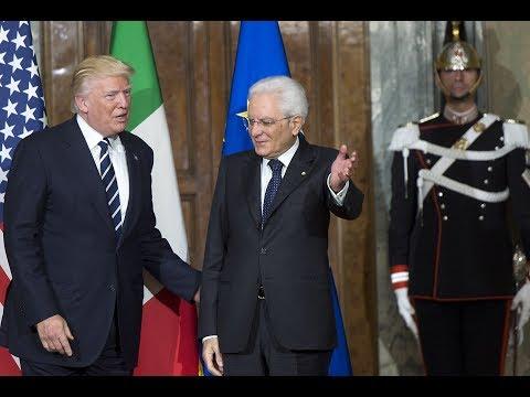 il Presidente Mattarella riceve il Presidente USA Trump