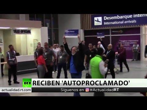 Cientos de brasileños reciben al actor 'autoproclamado' presidente de Brasil