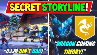 "'NOUVEAU' FORTNITE SEASON 7 SECRET STORYLINE CRACKED! ""A.I.M AIN'T BAD !"" (DRAGONS SONT À VENIR? THÉORIE!)"
