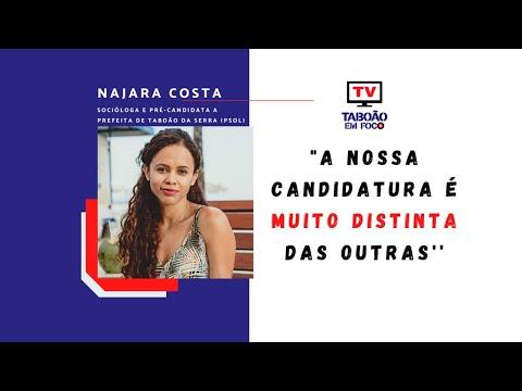 Entrevista com Najara Costa, pré-candidata a prefeita de Taboão da Serra