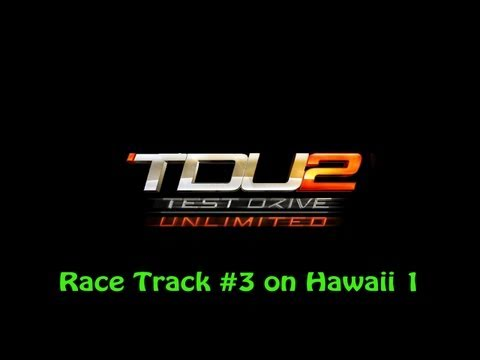 Test Drive Unlimited 2 PS3 - Race Track #3 on Hawaii 1