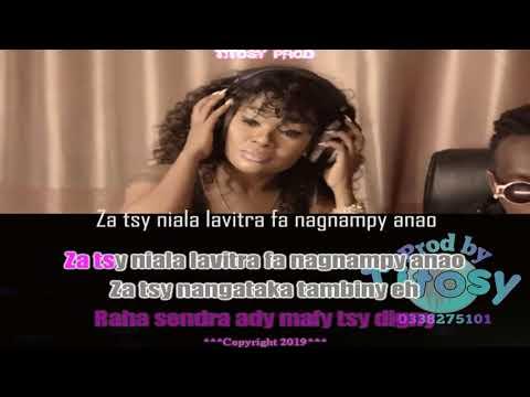 Black Nadia tsy tiako forcena  karaoke gasy vaovao  by Titosy prod